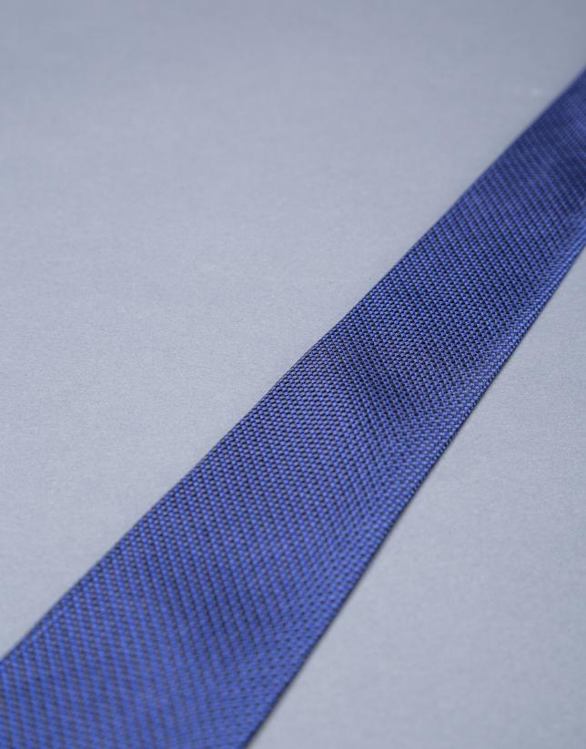 Blue micro-print tie