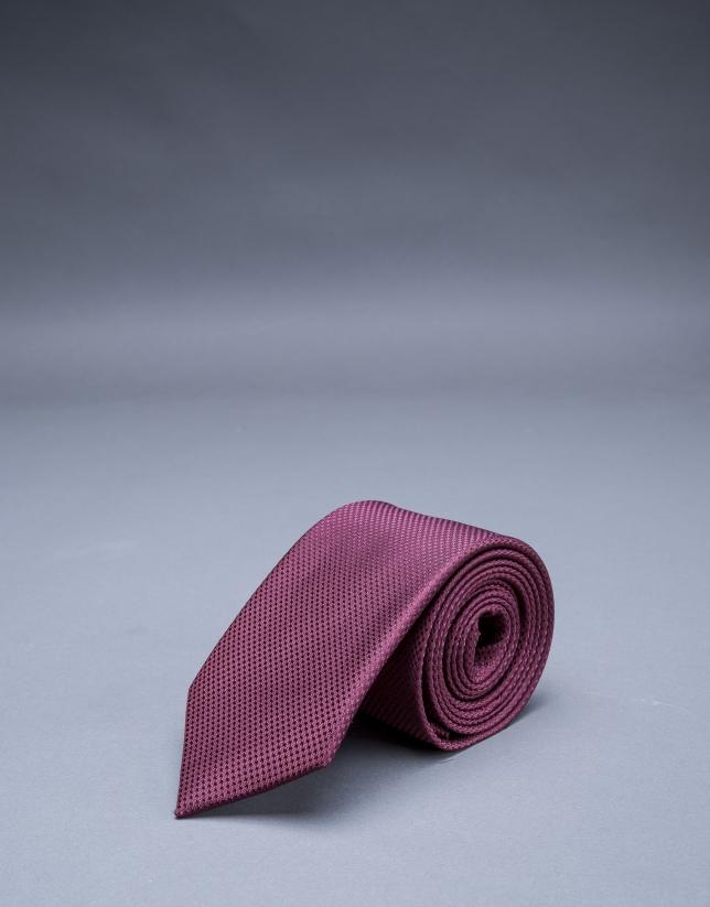 Corbata microdibujo granate