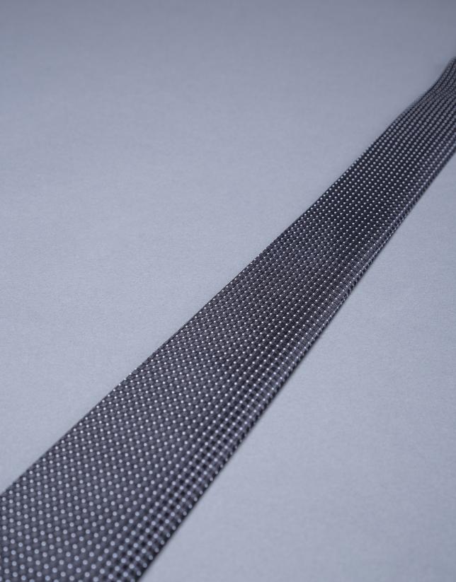 Corbata microdibujo gris