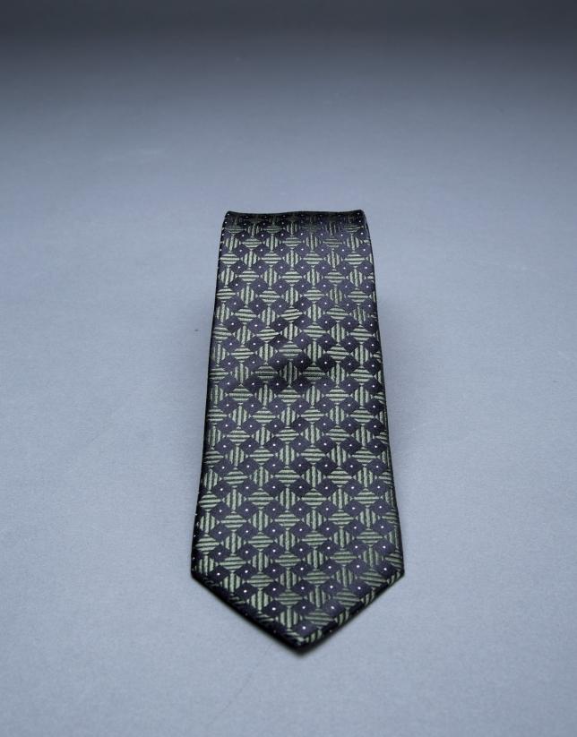 Cravate à motifs vert
