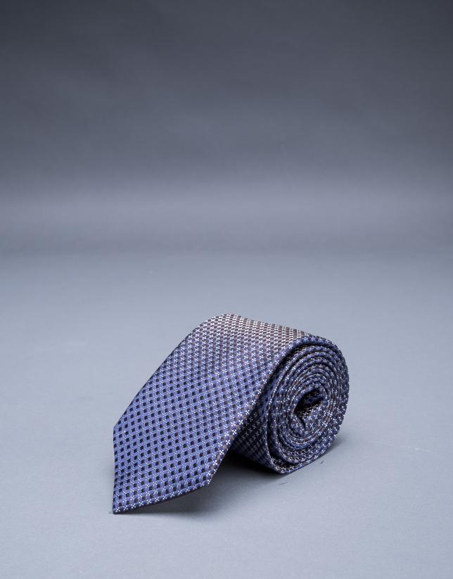 Cravate à motifs multicolores