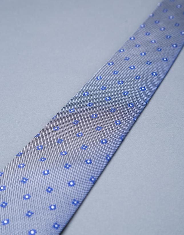 Blue - gray motif tie
