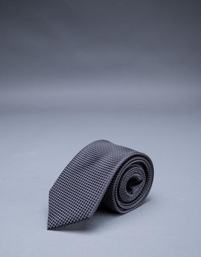 Cravate à multi rayures bleu gris