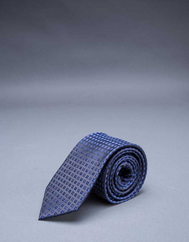 Blue motif tie
