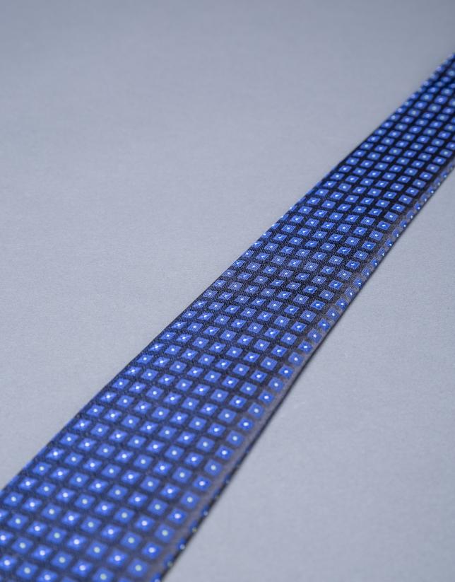 Corbata motivos azules