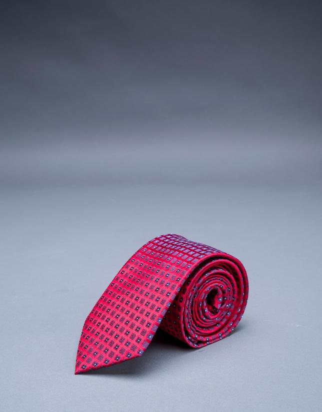 Red - blue motif tie