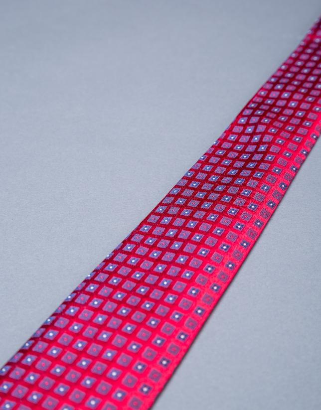 Corbata motivos roja azul