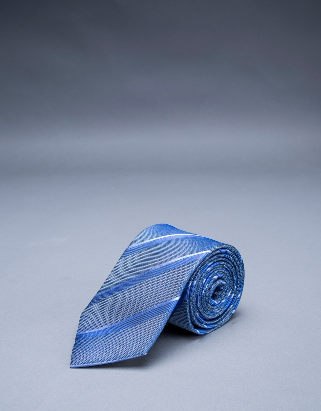 Gray - blue striped tie