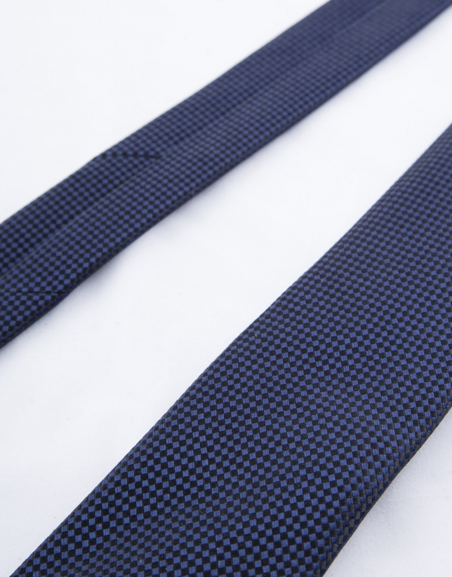 Navy blue microprint tie