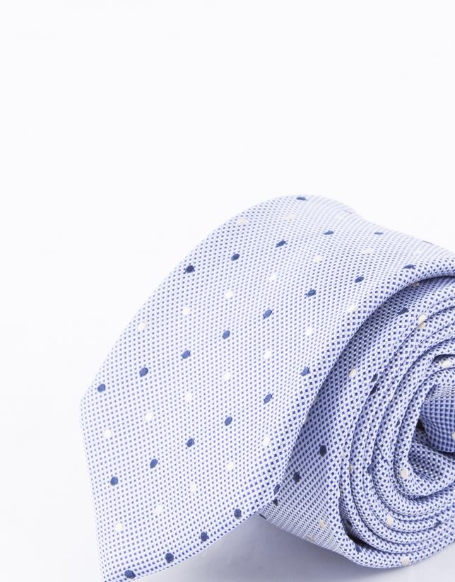 Corbata motivos blancos y marinos