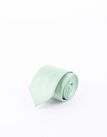 Cravate à motifs verts et bleus