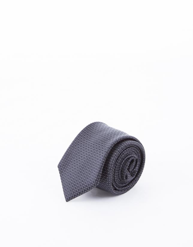 Black tie with motifs