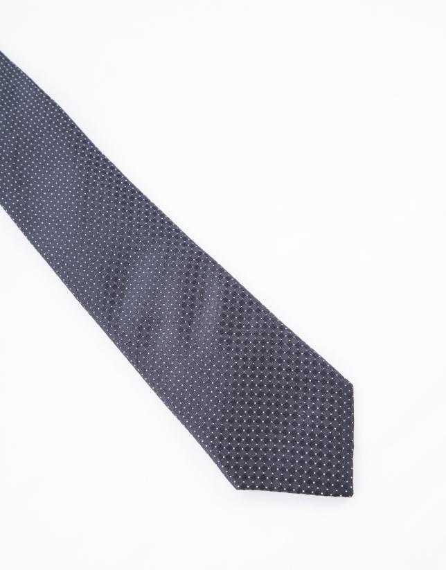 Cravate à motifs noirs