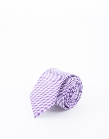 Tie with purple motifs