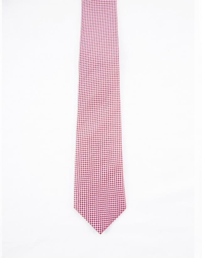 Corbata motivos rojos y blancos