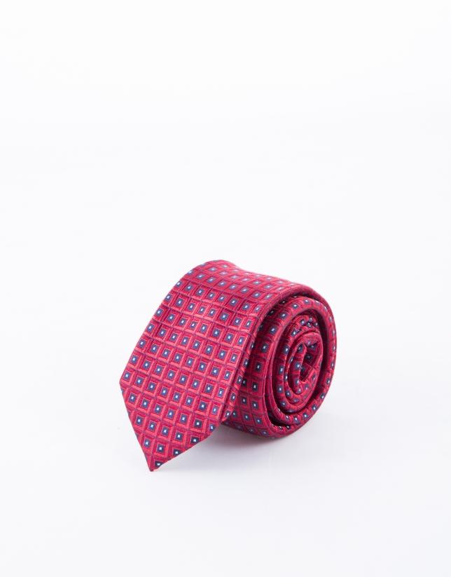 Corbata motivos rojos y azules