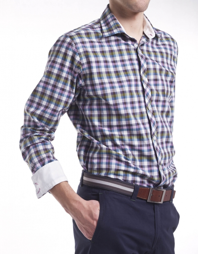 Casual Vichy checked shirt