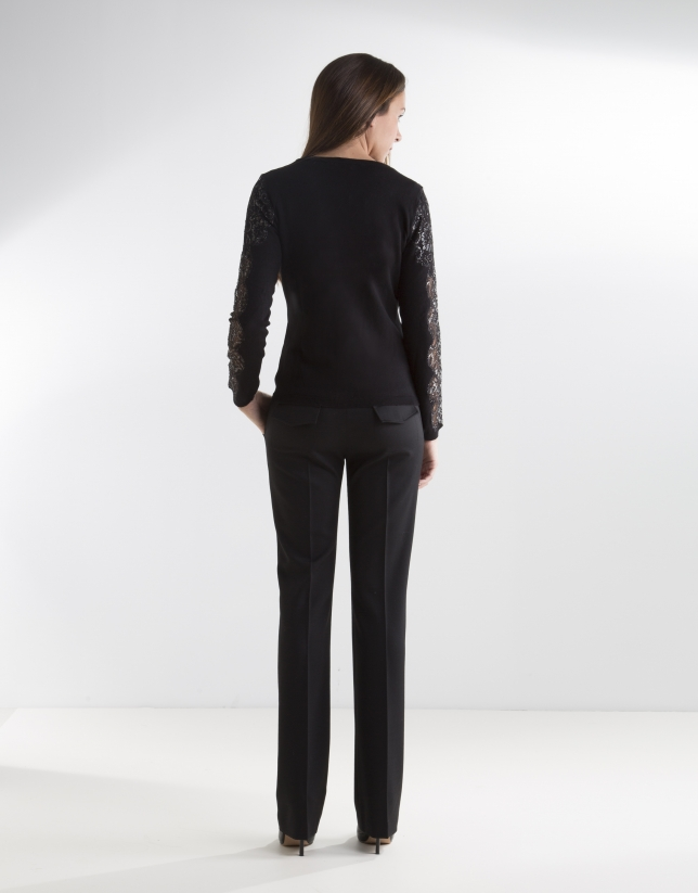 Black jacket with lace