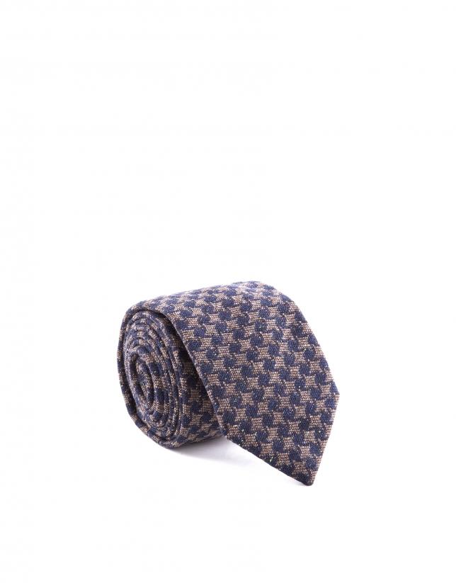 Houndstooth necktie