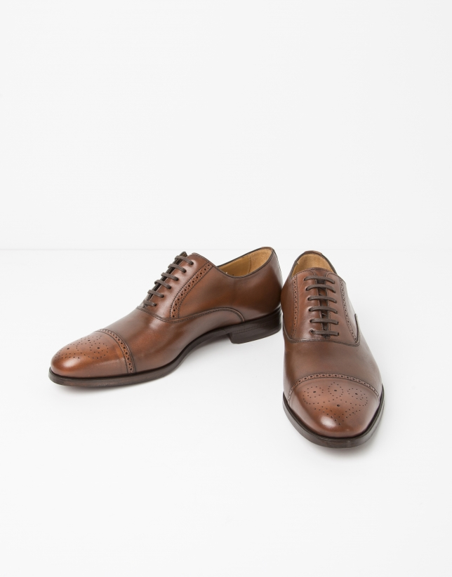 Zapato vestir Oxford marrón