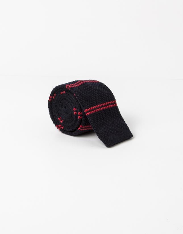 Corbata rayas rojas fondo marino