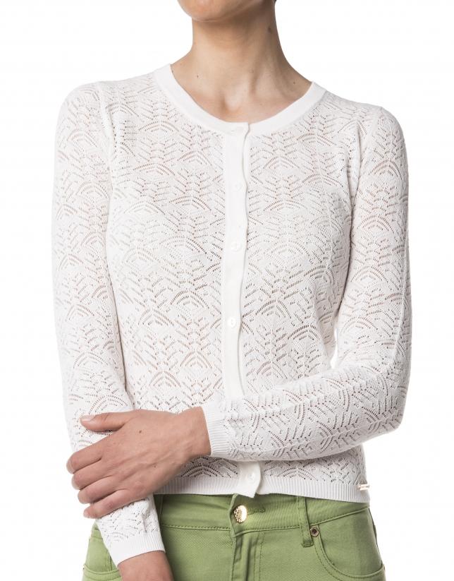 White openwork jacket