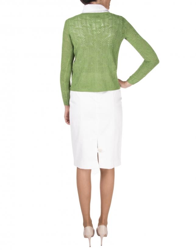 Green openwork jacket