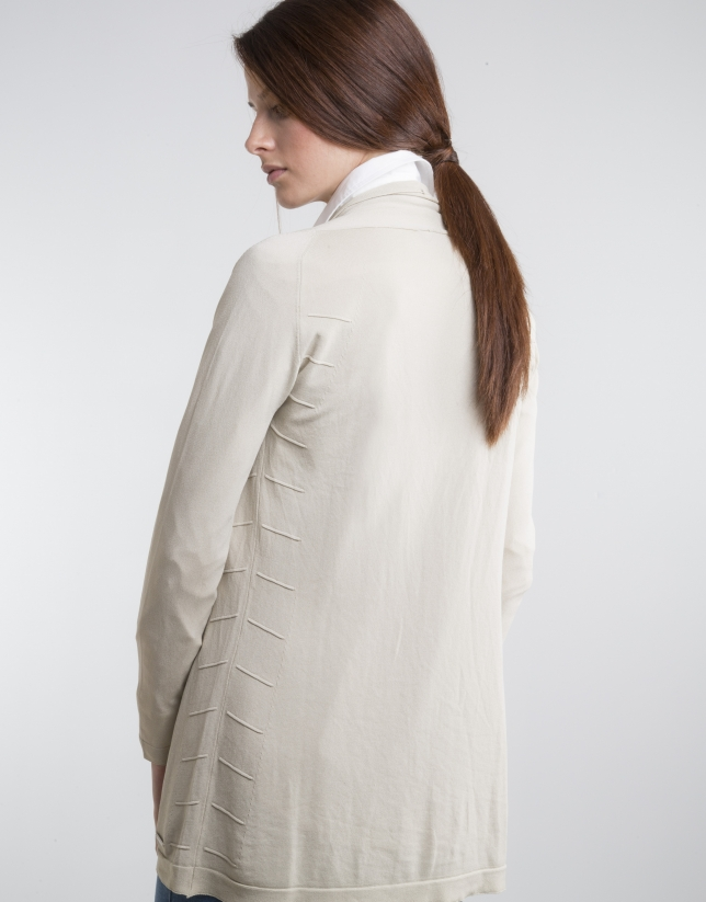 Off-white knit loose jacket