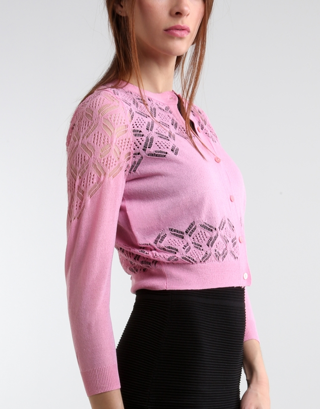 Shot pink jacket with fantasy