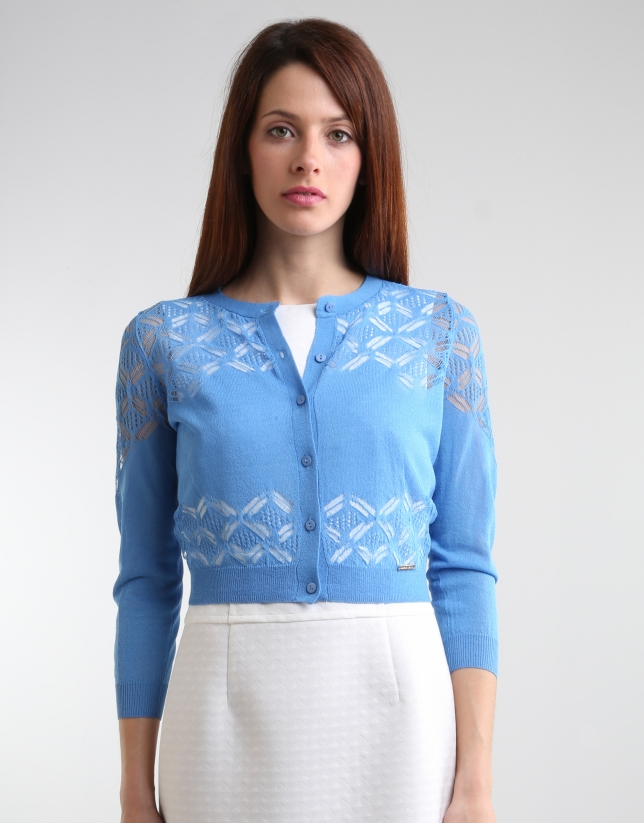 Short blue jacket with fantasy