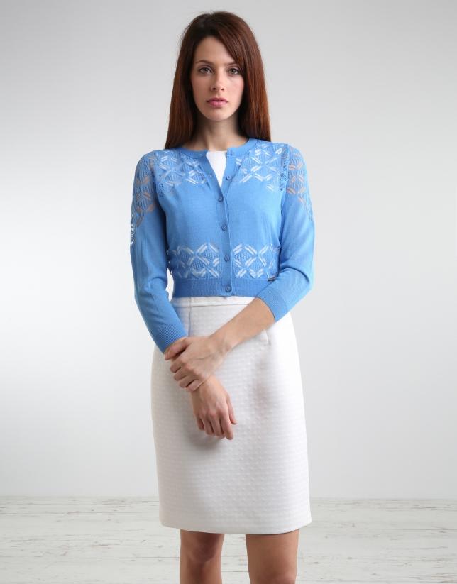 Short blue jacket with fantasy