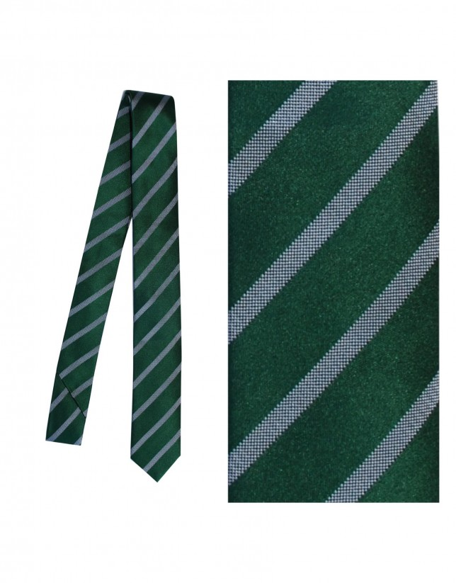 Dark green silk tie