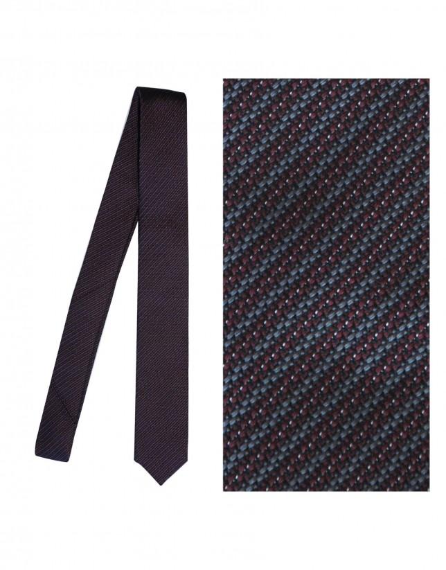Bordeaux silk tie