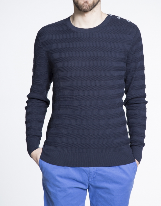 Structured knit sweater