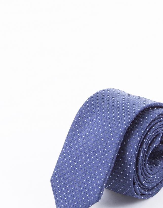 Corbata motivos marinos y blancos
