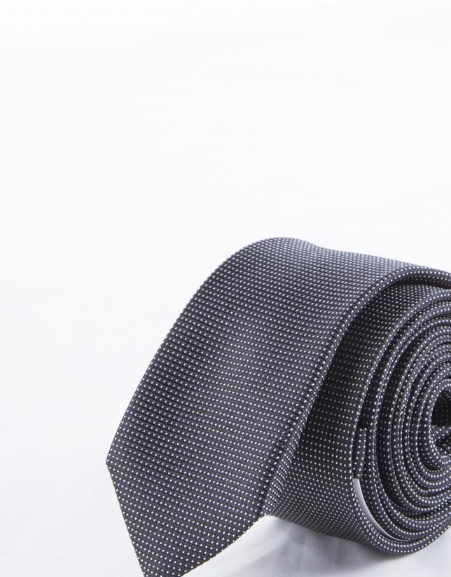 Corbata multipuntos blancos