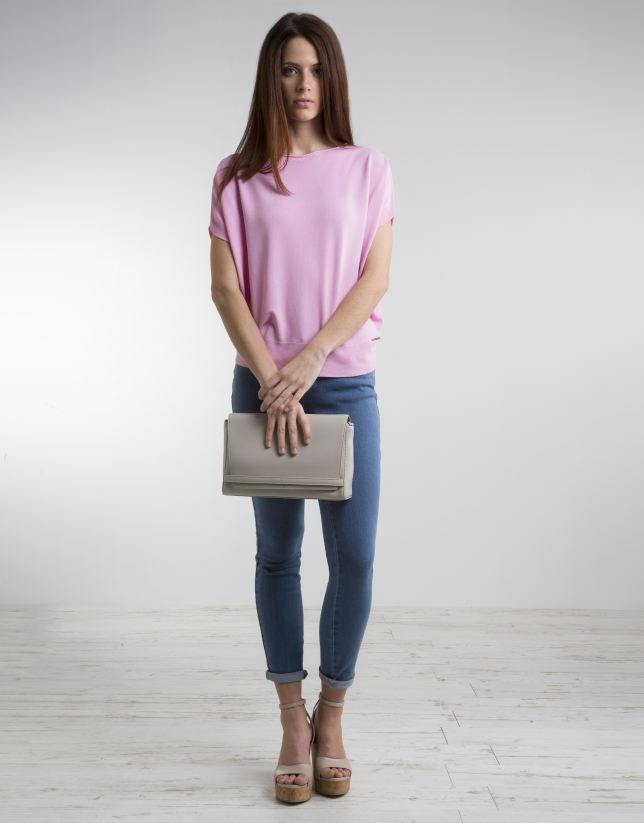 Pink loose sweater