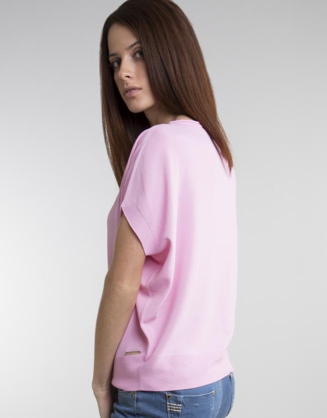Jersey fluido rosa