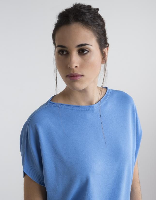 Blue loose sweater