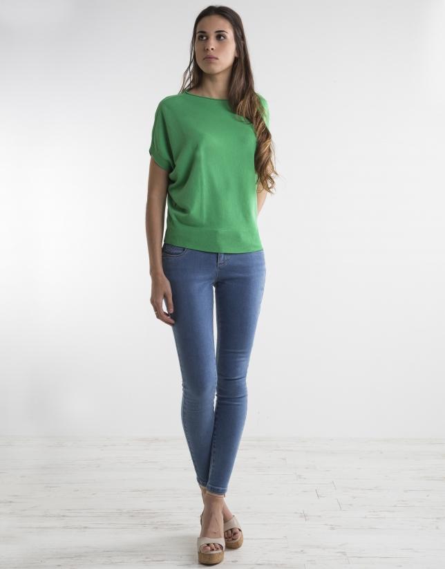 Jersey fluido verde
