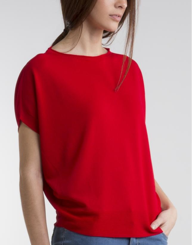 Jersey fluido rojo