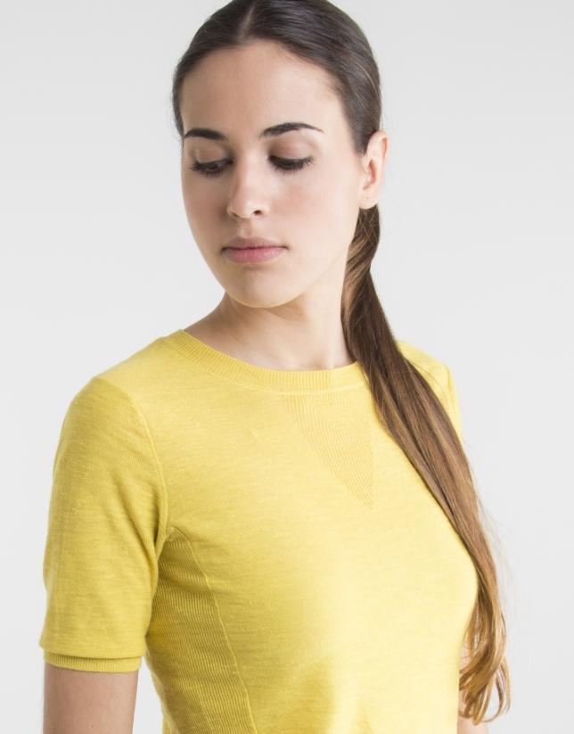 Jersey manga corta amarillo
