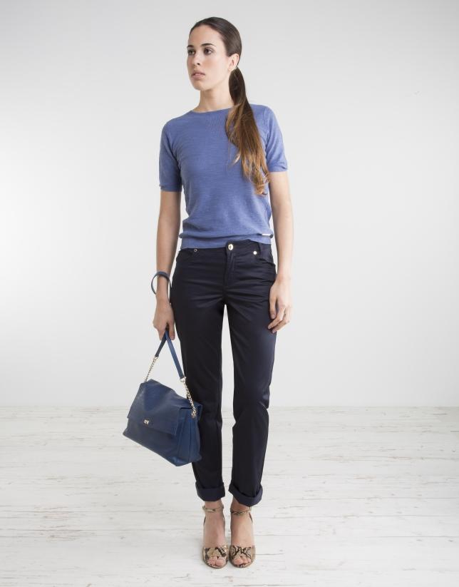 Jersey manga corta azul