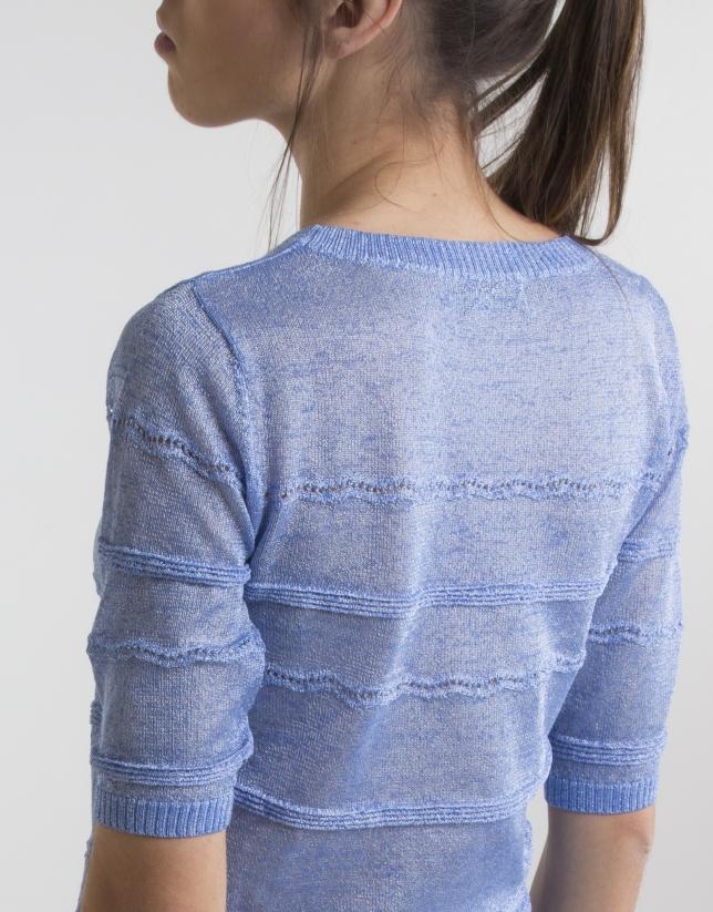 Jersey cenefas azul