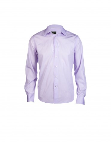 Light purple micro checked formal shirt
