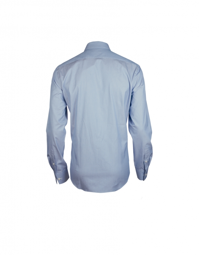 Camisa vestir bicolor azul