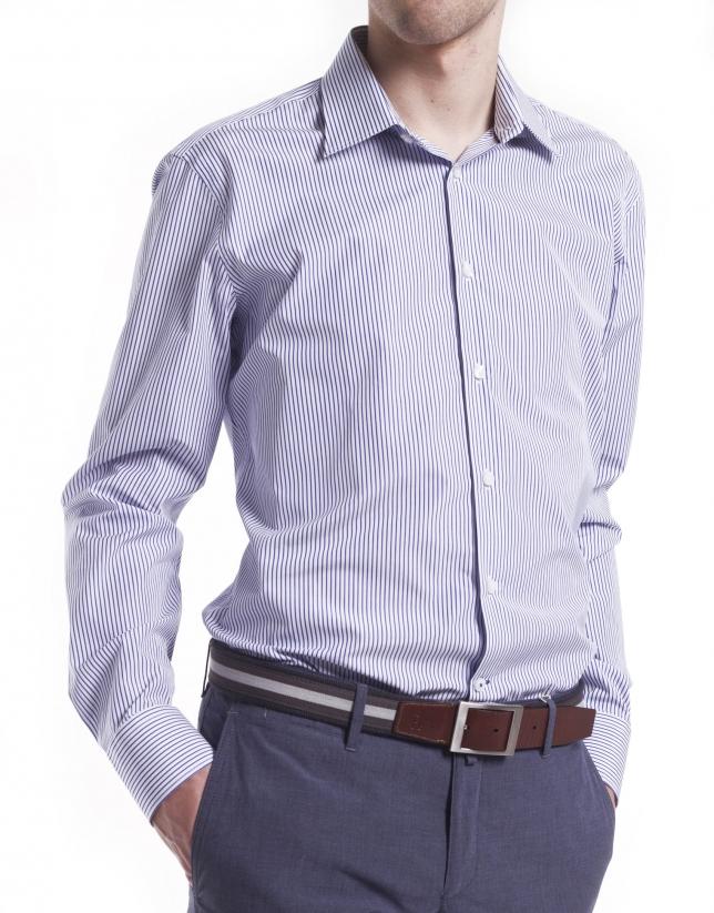 Camisa vestir lista estrecha