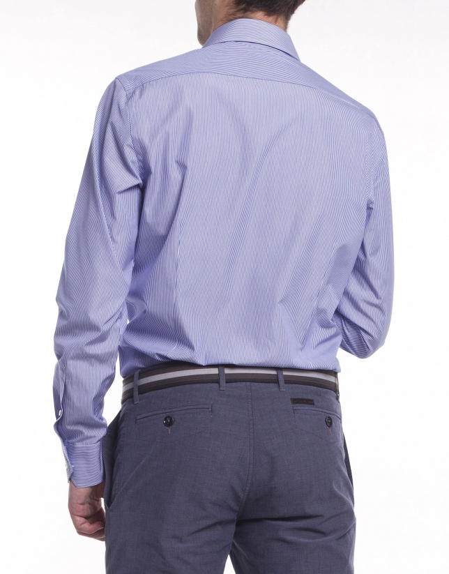 Chemise costume à rayures