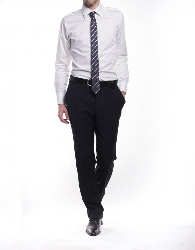 Dressy herringbone shirt