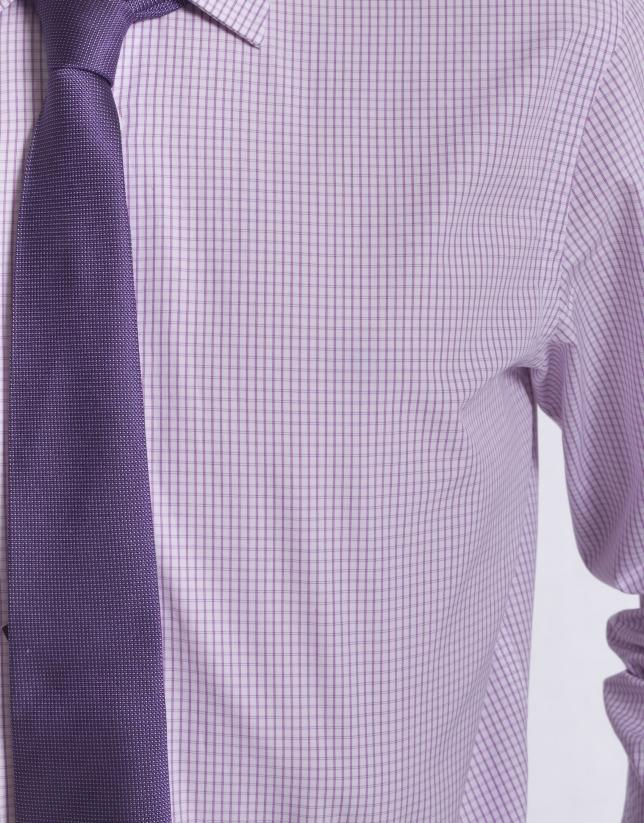 Chemise costume à carreaux
